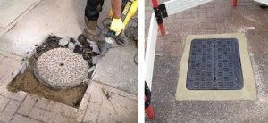 Manhole work